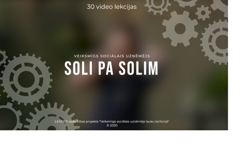 Sagatavotas mācību video lekcijas par sociālās uzņēmējdarbības tēmām